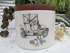 Vintage Dosen - mid century Tabaktopf Vorratsdose shabby chic - ein Designerstück von artdecoundso bei DaWanda