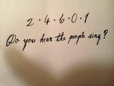 """""""Do you hear the people sing"""" tattoo"""