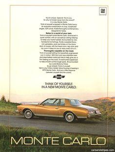 1979 Chevrolet Monte Carlo - Think of yourself - Original Ad