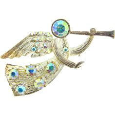 Jewelry Eisenberg Ice Christmas | Signed Eisenberg Ice figural Angel Christmas Brooch from ...
