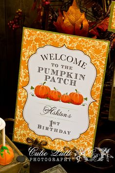 Items similar to Pumpkin Patch Party Printable Welcome Sign by Cutie Putti Paperie on Etsy Pumpkin Patch Birthday, Pumpkin Patch Party, Pumpkin Birthday Parties, Pumpkin First Birthday, Halloween Birthday, 4th Birthday Parties, Birthday Ideas, Little Pumpkin Party, Holiday Fun