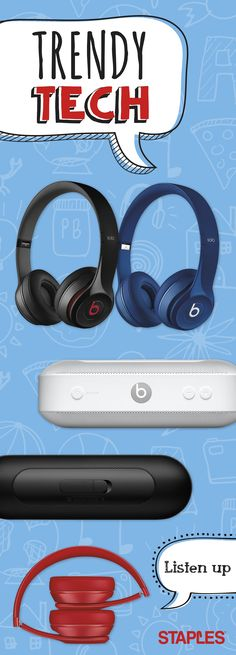 This school year, study to the beat of your own drum with the latest in sound technology. From folding headphones to bluetooth speakers, Staples has everything students need to turn on the focus and tune distractions out. Diy Tech, Tech Hacks, Tech Tech, Silly Quotes, Dre Headphones, Fox Kids, Geek Gadgets, Latest Games, Cool Inventions