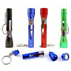 Flashlight Key Chain Metal Smoking Pipe - Stealth