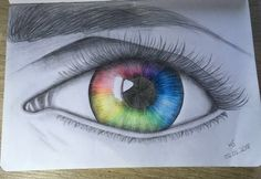 Rainbow-eye #rainbow #auge #zeichnen #Zeichnung #Bleistift #tumblr #eye #draw