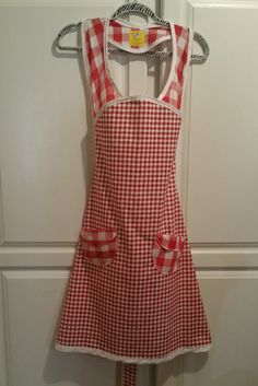 Check out this item in my Etsy shop https://www.etsy.com/listing/236410468/red-gingham-1940s-vintage-style-apron