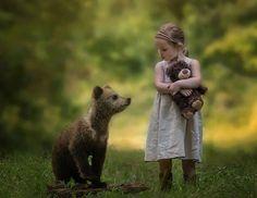 Little Girl w Bear Cub -