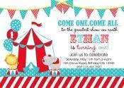 Printable Birthday Party Invitations , Circus, Carnival Theme Invitation