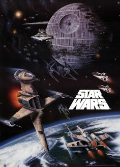 Star Wars: I had this poster on my wall as a kid.