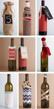 great way to wrap wine for a gift!