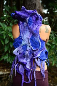 Felt Melted Sea Witch And Mystical Creatures  Of The by frixiegirl, $162.00