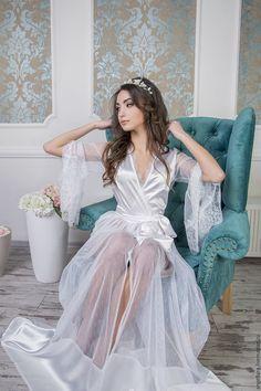 Items similar to Sale bridal robe Style wedding robe, bridal lingerie, womens robe, honeymoon lingerie on Etsy Wedding Robe, Wedding Kimono, Wedding Dresses, Honeymoon Lingerie, Wedding Lingerie, Bodysuit, Glamour, Bridal Robes, White Bridal