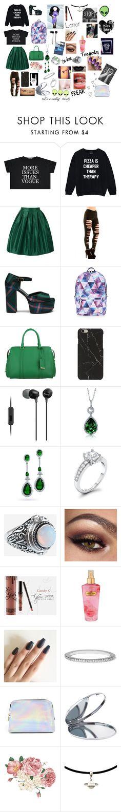 """""""Give me therapy, I'm a walking travesty. But I'm smiling at everything"""" by mrsromangodfrey ❤ liked on Polyvore featuring WithChic, Mulberry, Accessorize, BOSS Hugo Boss, Sony, BERRICLE, Bling Jewelry, Rock 'N Rose, Victoria's Secret and Monica Vinader"""