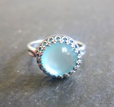 Christmas Gift Under 30 For Her Blue Silver Ring Exotic Bohemian Victorian Sister Mother Best Friends Girlfriend Wife Gift Idea FREE SHIPPING