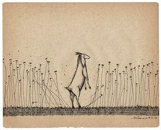 Jon Carling. A goat in tall grass.