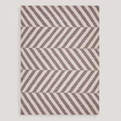 Taupe Avira Flat-Woven Wool Rug | World Market - $300 for 5' x 8'
