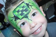 Minecraft by Facepainting by Connie.. https://www.facebook.com/facepaintingbyconnienelson