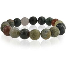 Bling Jewelry Bling Jewelry Multi Color Simulated Fancy Jasper Bead... ($7.99) ❤ liked on Polyvore featuring jewelry, bracelets, brown, fake jewelry, beaded gemstone jewelry, beaded jewelry, imitation jewellery and artificial jewellery