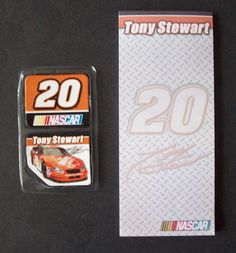 Nascar #20 Tony Stewart 50 Sheet Notepad (or To Do List) & Refrigerator Magnets