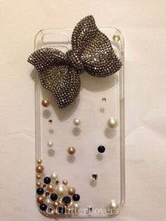 Pearl iPhone 5 case with bling bow on Etsy, $15.00 Cell Phone Cases, Iphone Cases, Cell Phone Accessories, Bling, Bows, Pearls, Unique Jewelry, Handmade Gifts, Etsy