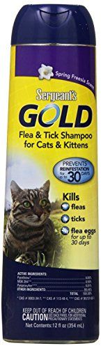 This product has a great performance quality and price. Shampoo for cats for removal and prevention of fleas ticks and grooming purposes. Manufacturer: SERGEANT S PET PRODUCTS P...