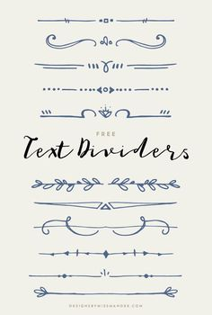 It's a new year and time for some new, hand drawn graphics! Today's freebie includes 11 unique doodles that are sure to add a fun touch wherever you decide to include them. These lovely text dividers