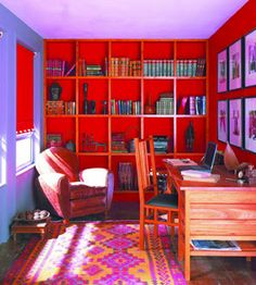 Pretty Red And Purple Study Rooms E Hat