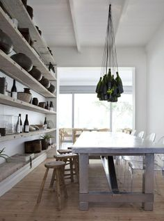 Creative lighting#Repin By:Pinterest++ for iPad# dining space shelving mixed materials