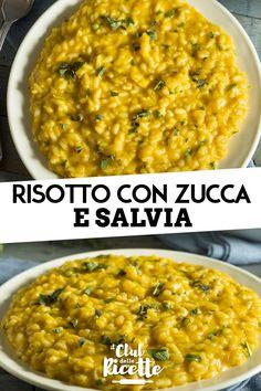 Il Risotto Zucca e Salvia è un primo piatto vegetariano dal sapore autunnale, perfetto per un pranzo in famiglia oppure una cena con gli amici. Pasta Con Calamari, Rice Cereal, Cooking Recipes, Healthy Recipes, World Recipes, Couscous, Salvia, Italian Recipes, Food And Drink