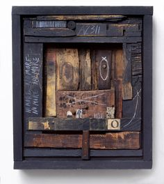 Hannelore Baron - Box, 1975, wood, paper, ink, chalk, acrylic,  10 x 8 ½ x 2 in. (25.4 x 21.6 x 5.1 cm)