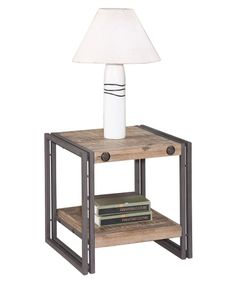 Moe's Home Collection Brooklyn End Table - Natural / Gray - 19.7x19.7 Hayneedle ($245)