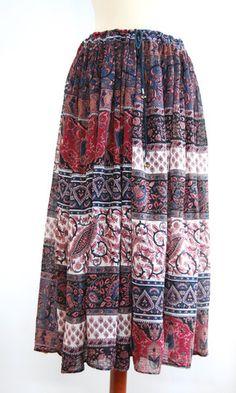 Indian cotton patchwork skirt – EVIG VINTAGE