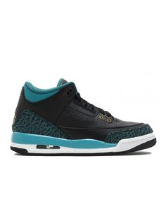 c6ed5930d9ad Air Jordan 3 Retro Gg Black Metallic Gold Rio Teal 441140 018