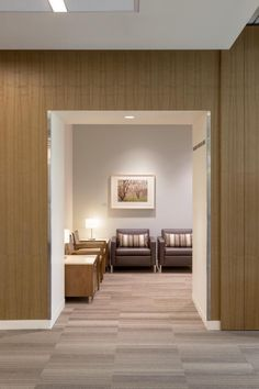 PHOTO TOUR: Stanford Cancer Center South Bay | Healthcare Design --- Quiet spaces off the lobby allow patients and families to gather privately, but still within view of reception. Photo: © Kyle Jeffers
