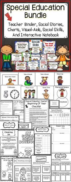 Classroom Ideas - This special education includes everything you need for the special eduation classroom.