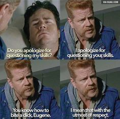 The Walking Dead: Abraham + Eugene - 9GAG