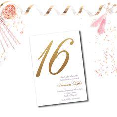 Sweet 16 Birthday Party Invitation - Pink Poppy Party Shoppe
