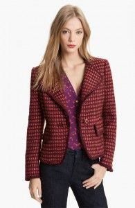 Tory Burch burgundy jacket