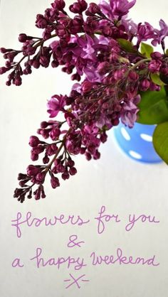 """Lilacs (seringen) for you"" from ""ingthings"""
