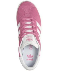 adidas Girls' Gazelle Casual Sneakers from Finish Line - PINK/WHITE 5.5