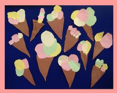 Kindergarten 4 years ice-cream activity