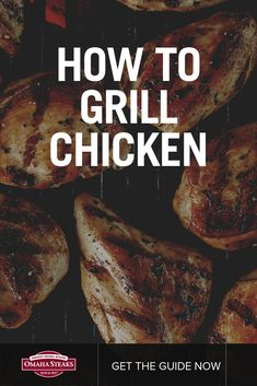 Learn how to grill chicken breasts or thighs perfectly every time. We're sharing the 5 biggest grilled chicken mistakes people make and how you can avoid them. Enjoy delicious, perfectly cooked and juicy chicken at your next cookout or barbecue with these Grilling Tips, Grilling Recipes, Perfect Grilled Chicken, Perfect Chicken, Grilling The Perfect Steak, Gas And Charcoal Grill, Omaha Steaks, How To Cook Chicken, Cooked Chicken