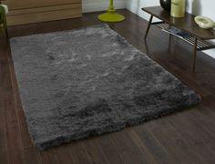 Modern Grey Shagpile Rug 150cm x 230cm (4 9 x 7 6ft)-Supersoft Polyester Pile