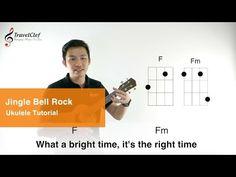 "How to play ""Jingle Bell Rock"" on the ukulele Frozen Sad, Right Time, Jingle Bells, Music Stuff, Ukulele, Language, Play, Rock, Learning"
