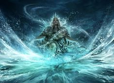 'Glacial Revelation' by Magali Villeneuve Card art from the 'Modern Horizons' expansion set, released June 2019 by Magic: The Gathering A Princess Of Mars, Alex Pardee, Abrams Books, Arkham City, Amaterasu, Pop Culture Art, American Gods, Wizards Of The Coast, Magic The Gathering