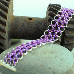 Forest Berry Japanese Lace Micro-Maille Bracelet
