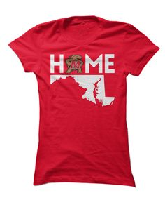 Maryland Terrapins - Home With State Outline