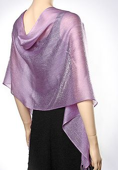 Shiny Evening Scarves Wraps in many colors ideal for spring & summer wedding bridal & bridesmaids shawls & scarves.