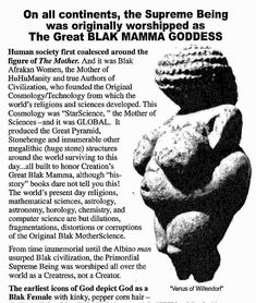 The supreme black mother goddess - History Black History Books, Black History Facts, Native American History, African American History, European History, History Education, World Religions, We Are The World, World History