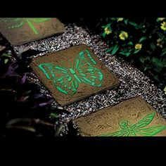 GLOW IN THE DARK STEPPING STONES   BUTTERFLY