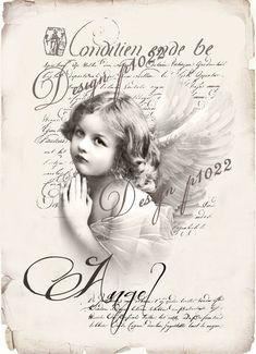 Vintage Labels Vintage angel new version digital collage Decoupage Vintage, Éphémères Vintage, Images Vintage, Decoupage Paper, Vintage Labels, Vintage Ephemera, Vintage Girls, Vintage Pictures, Vintage Photographs